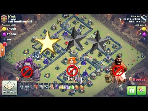 Amazing war Base|TH9 anti 2 star war base|clas of clans anti govaho war base|coc th9