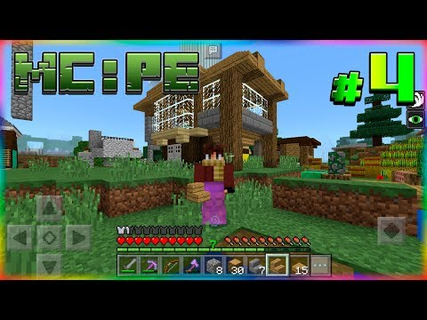 ВЫЖИВАНИЕ в Minecraft: PE #3 Достраиваем ДОМ в MINECRAFT: POCKET EDITION!