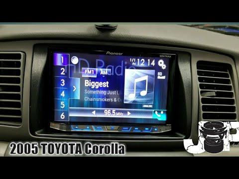 2005 TOYOTA Corolla radio removal/ pioneer install - YouTube