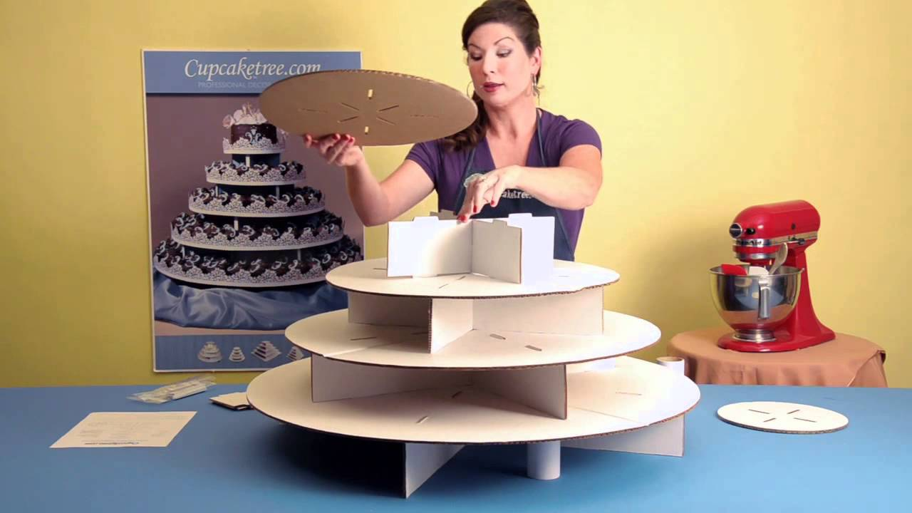 how to make a cupcake stand for 60 cupcakes