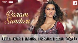 Param Sundari - Español   English   Hindi (Letra   Lyric Video HD) A.R. RAHMAN, SHREYA GHOSHAL