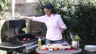 Grilled Peaches With Ginger Snap Whipped Cream : Grilling Fruits & Veggies