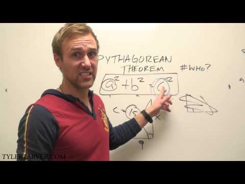 How to do the Pythagorean Theorem (a2+b2=c2)