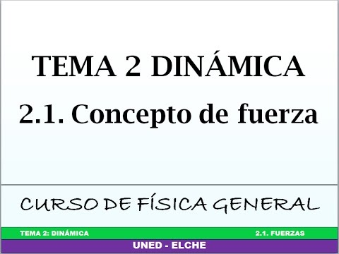 Curso de Física. Tema 2: Dinámica. 2.1 Concepto de fuerza
