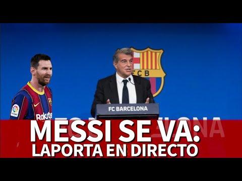 MESSI se va del BARCELONA | LAPORTA EN DIRECTO | Diario AS