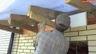 видео Односкатная крыша для сарая своими руками — устанавливаем по чертежам