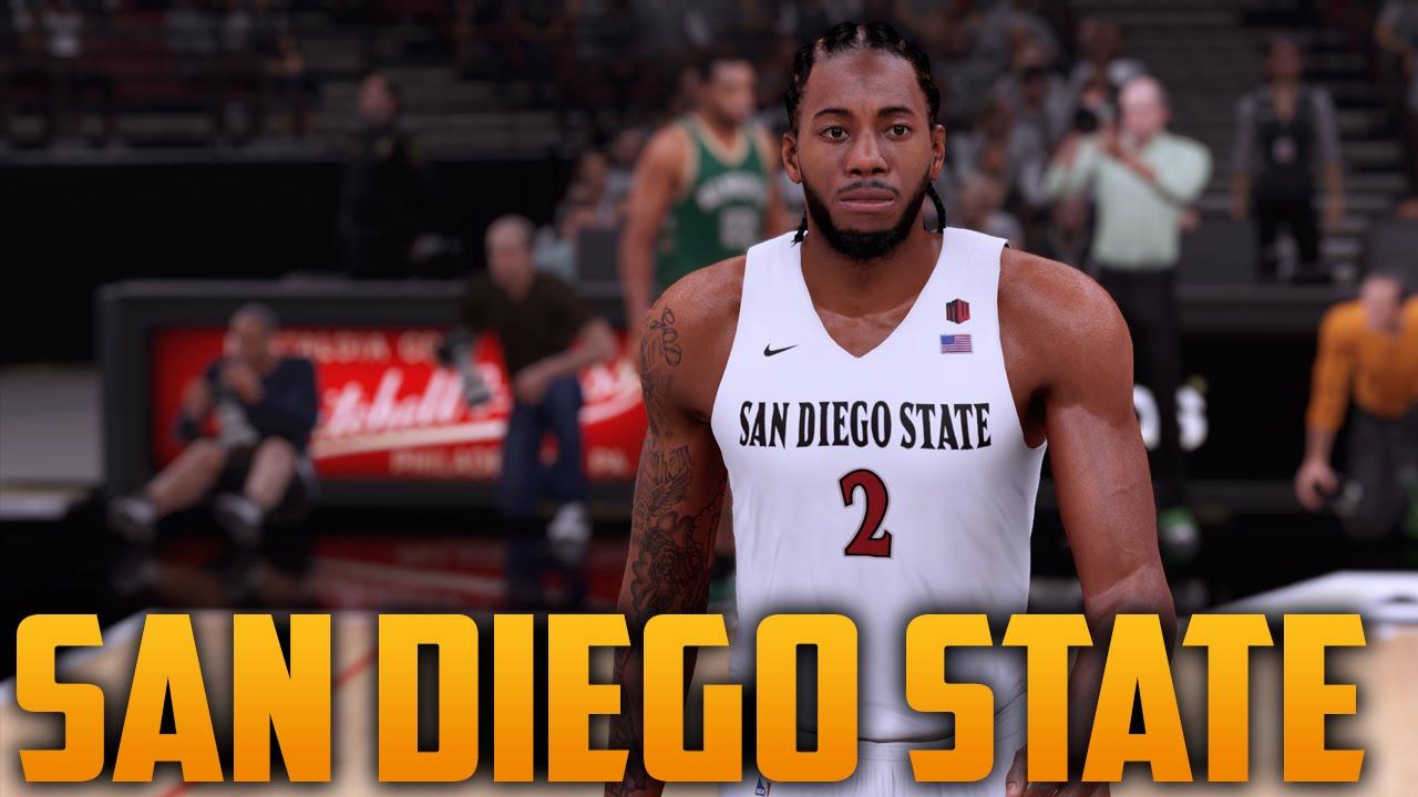 NBA 2K16 San Diego State Aztecs Jersey   Court Tutorial - YouTube 5351d0bbb