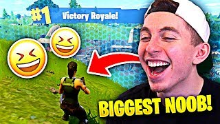 REACTING to my FIRST EVER Fortnite WIN!!! (LOL)