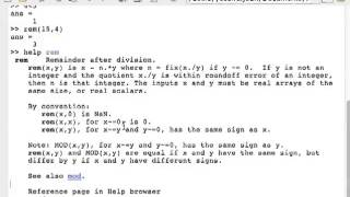 1. Using MATLAB for the First Time