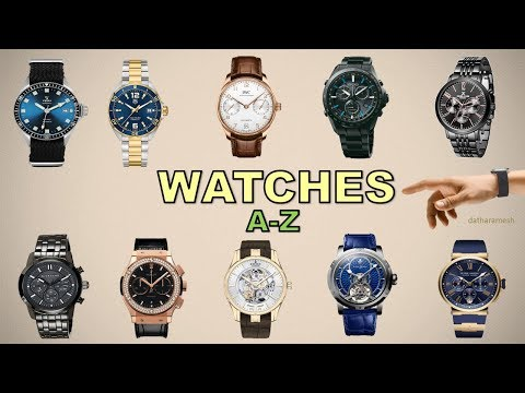 A-Z WATCHES NAMES