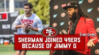LIVE! Richard Sherman Praises Jimmy Garoppolo, How Good Is The 49ers Offense?