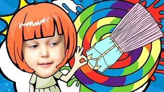 НАРЯД ДЛЯ БАРБИ Играем в Куклы Barbie Создаем цветные наряды для Бала