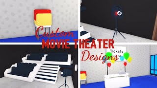 8 Custom MOVIE THEATER Design Ideas & Building Hacks (Roblox Adopt me) | Its SugarCoffee