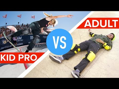 Kid Pro Skateboarder Vs. Amateur Adults