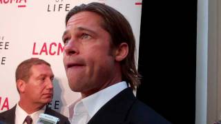"Brad Pitt at the ""Tree of Life"" premiere"