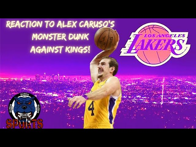 Los Angeles Lakers| Fan Reaction To Alex Caruso's Insane Dunk On Maurice Harkless!