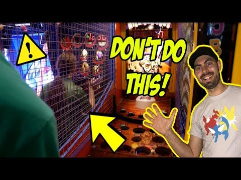 He Walked Onto The Arcade Game! *Don