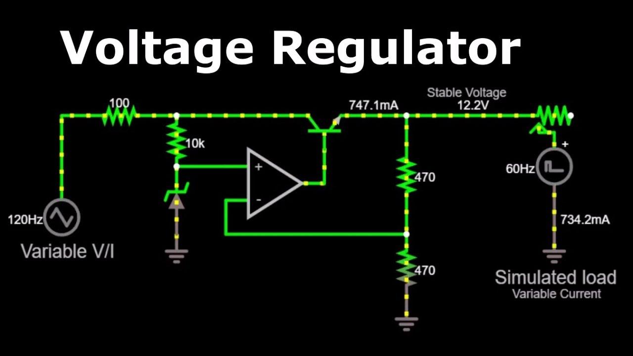 Voltage Regulator Transistor Zener Diode As Circuit Can Adjustable Output Controller