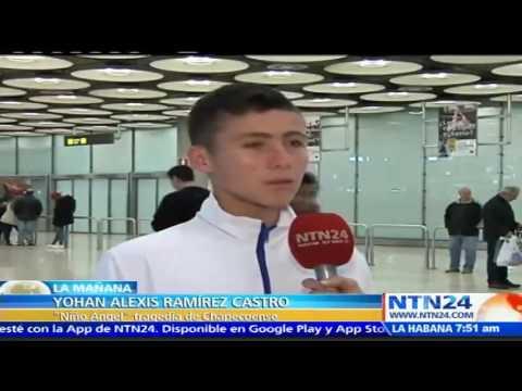 Niño ángel  de tragedia del Chapecoense llega a España a conocer al Real  Madrid 8ab46cbefbfbb