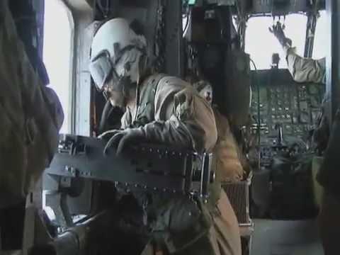 U.S. Marines CH-53 Super Stallion Helicopter Aerial Gunner Training