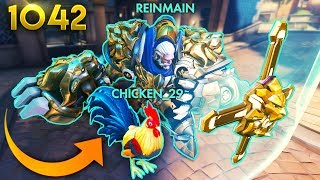 Reinhardt's HAS A CHICKEN!? *WTF*  | Overwatch Daily Moments Ep.1042 (Funny and Random Moments)