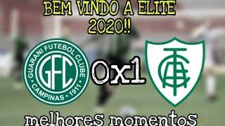 GUARANI 0x1 AMÉRICA-MG  Melhores momentos & gols BRASILEIRÃO SÉRIE B | 37ª RODADA | 22/11/2019