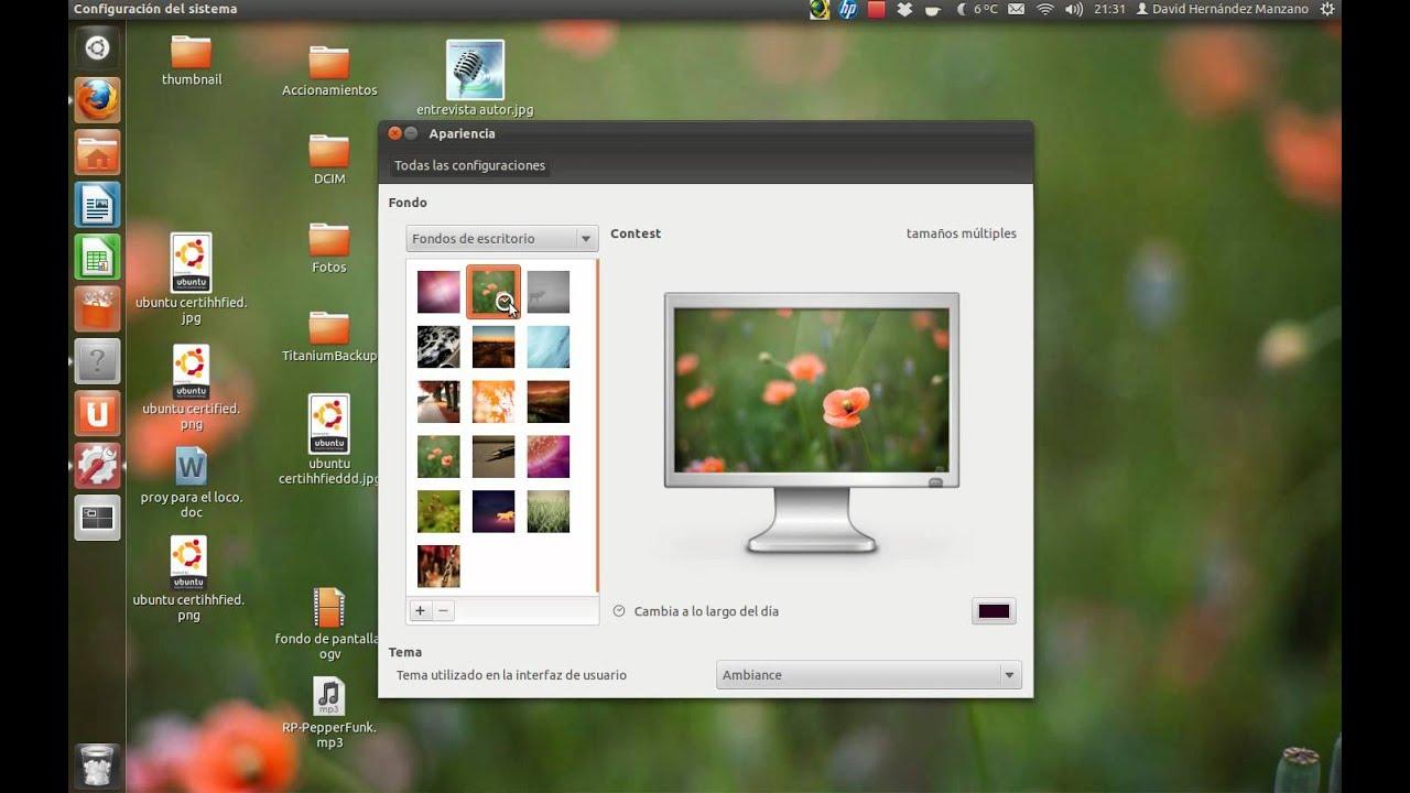 Cambiar fondo de pantalla automaticamente con ubuntu for Fondo de pantalla ubuntu