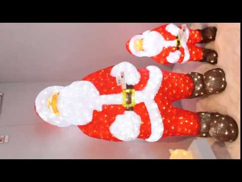 pere noel lumineux led blanc froid izaneo youtube