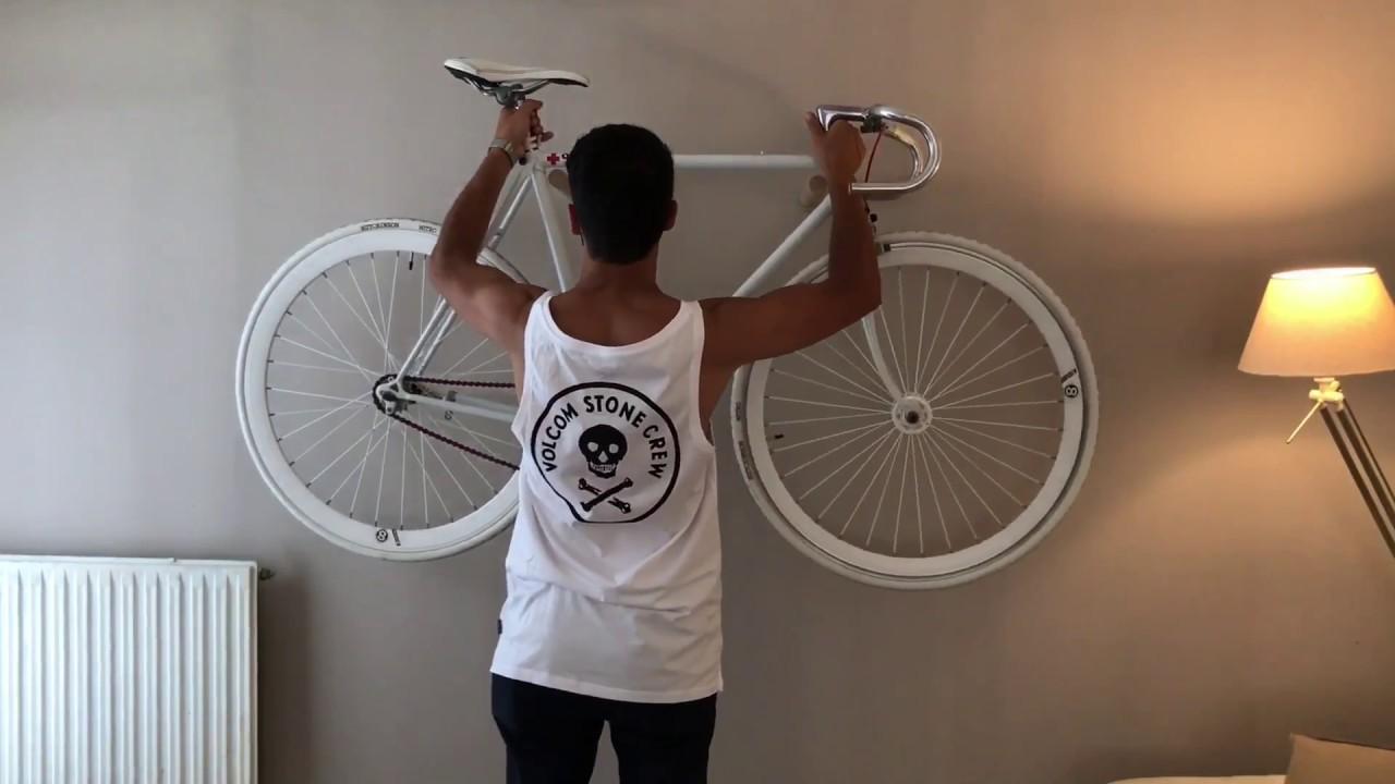 DIY Colgador para bicicleta en madera   bicycle wood support - YouTube 3f99eaf23ca3