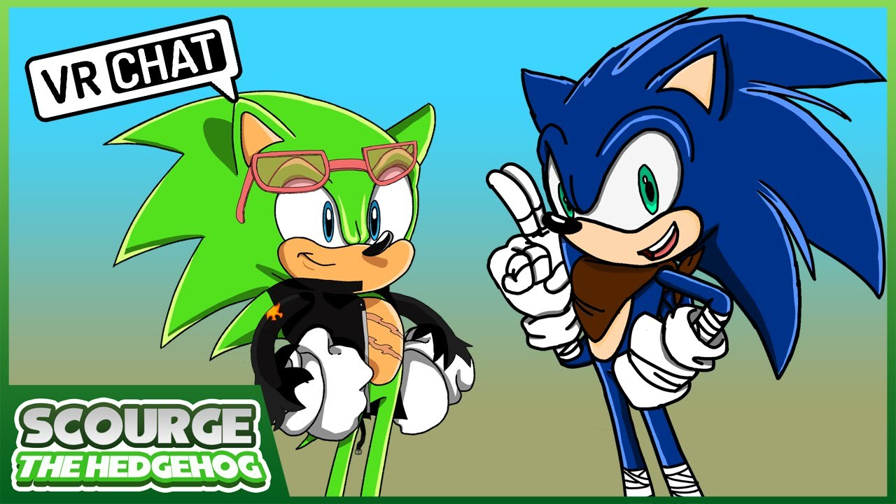 Scourge meets Boom Sonic & Sticks The Badger (VR CHAT)
