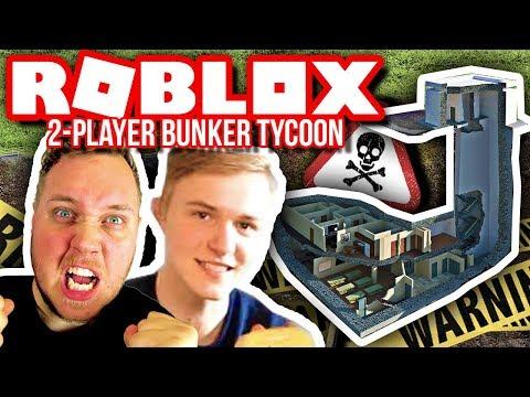 FLYTTER IND I EN KRIGS BUNKER! :: 2 Player Bunker Tycoon - Dansk Roblox HD