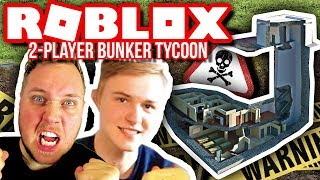 MOVING INTO A WAR BUNKER! :: 2 Player Bunker Tycoon-English Roblox HD