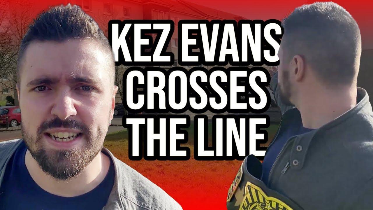 Kez Evans crosses the line!