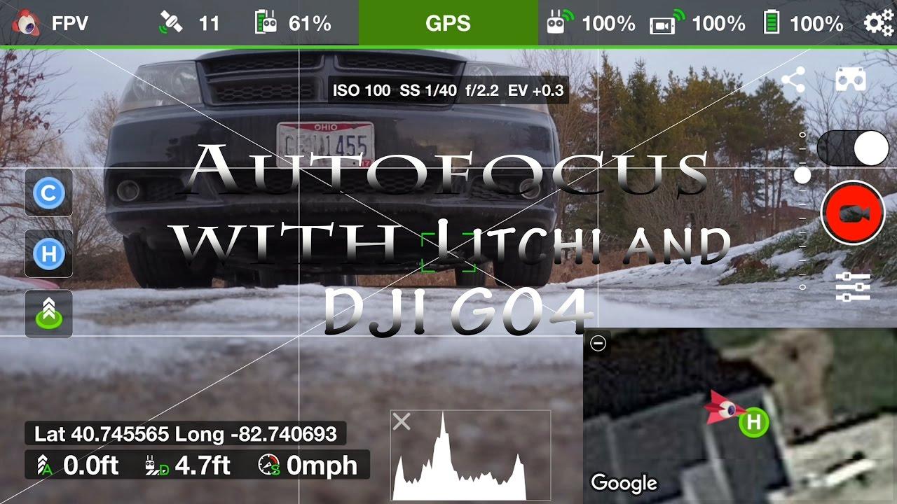DJI MAVIC PRO  AUTOFOCUS WITH LITCHI AND DJI GO4