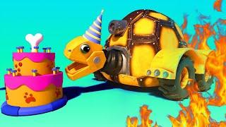 АнимаКары - Пожар после ПРАЗДНОВАНИЯ ДНЯ РОЖДЕНИЯ - мультфильмы для детей с машинами и животными