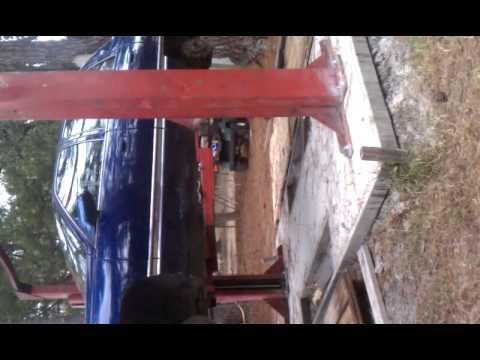 Backyard Lift 2 post car lift in backyard - youtube