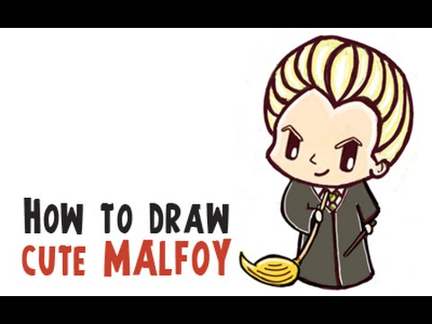 How To Draw Cute Draco Malfoy From Harry Potter Cutie Chibi