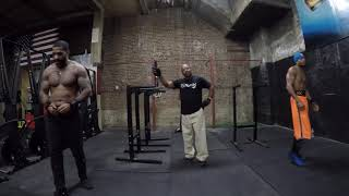 """10 Sets of 10's"" - (RipRight, SNAGG, CoKenya) - CONCRETE GRIT GYM - THE SOUTH BRONX - Fit Over 50"