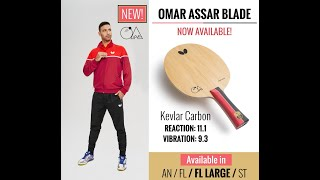 Omar Assar Table Tennis Blade Made Of Kev Carbon
