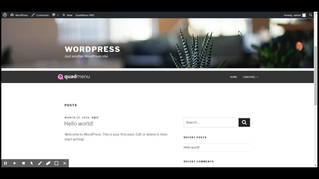 How to create WordPress Carousel Mega Menu - QuadMenu