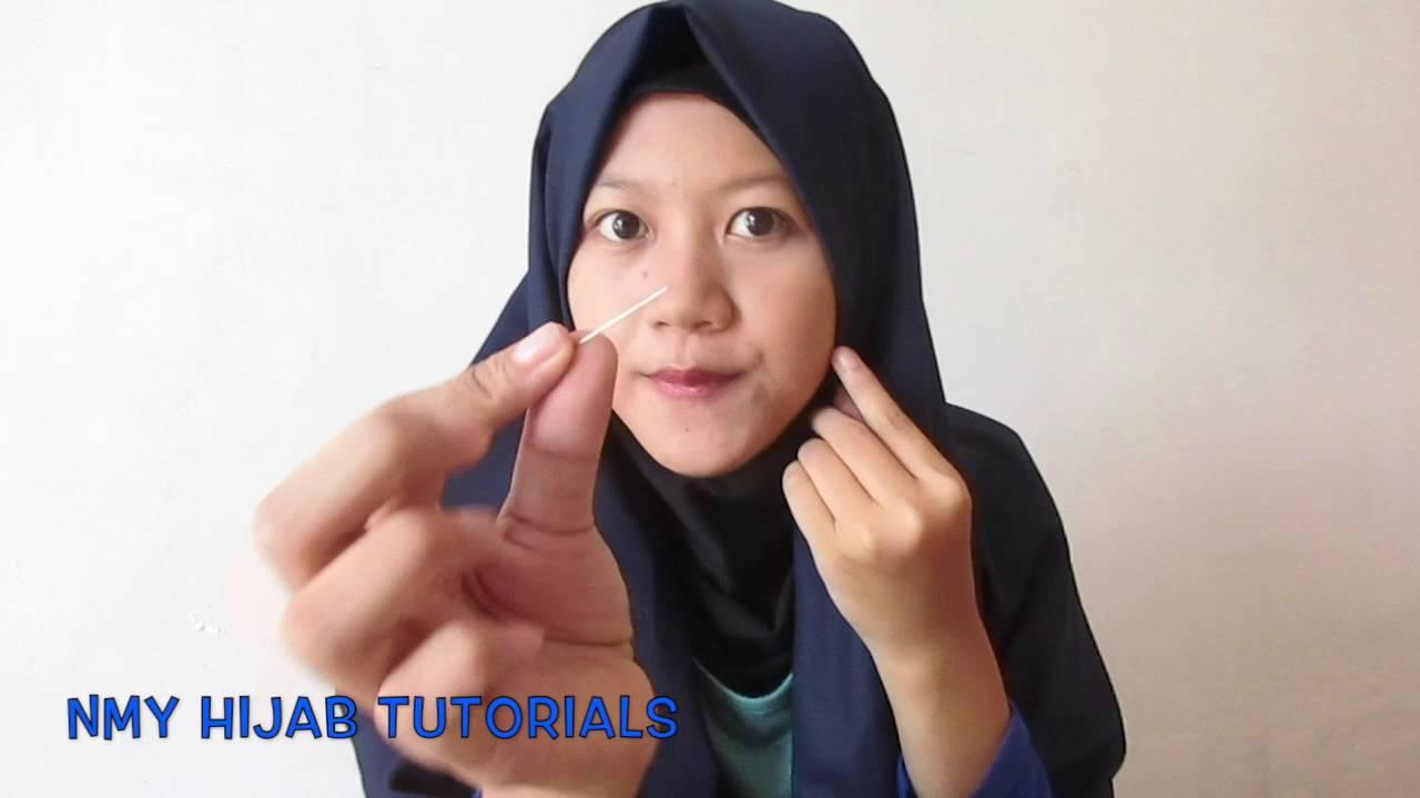 Tutorial Hijab Pashmina Segi Empat Frozen Harian NMY Hijab