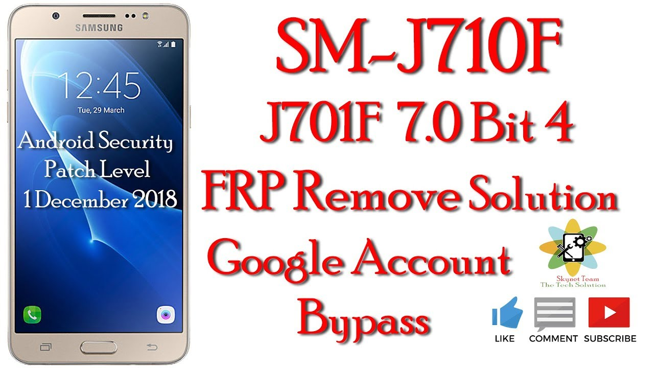 Samsung j710F Binary 4 Google Account Remove Bypass No Need Flash
