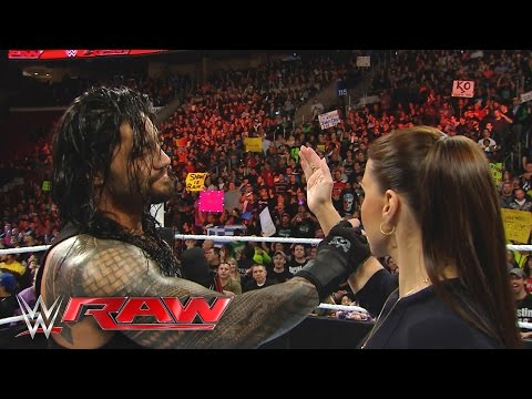 "Thumbnail: Roman Reigns reminds Stephanie McMahon that he is the ""authority"" in WWE: Raw, March 21, 2016"