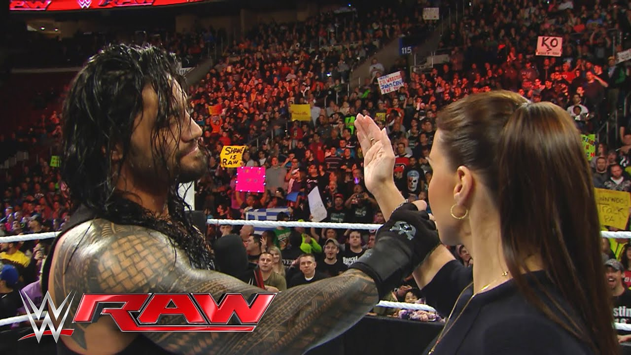 """Download Roman Reigns reminds Stephanie McMahon that he is the """"authority"""" in WWE: Raw, March 21, 2016"""