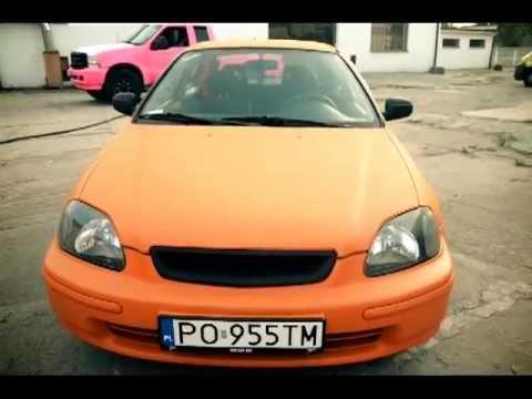 Honda Civic 6gen Orange Plasti Dip Bccustom Youtube