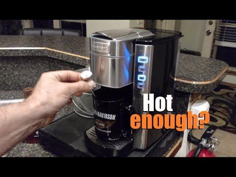 Demo Cuisinart Compact Single Serve Coffee Maker Model Ss 6