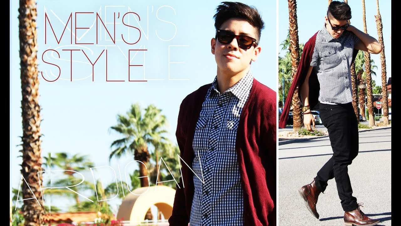 HOW I STYLE: MEN'S CARDIGANS (2 WAYS) ◗ OUTFITS | JAIRWOO - YouTube
