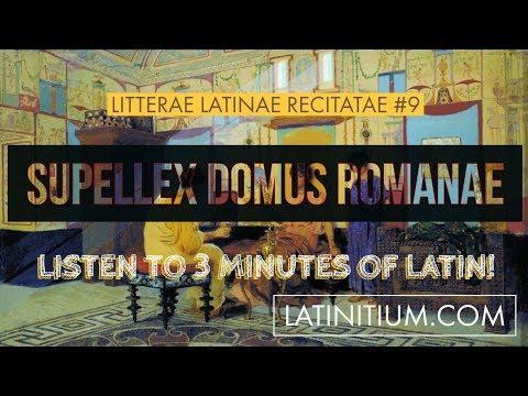 Ancient Roman furniture | Latin Texts 9 | Learn Latin | #33
