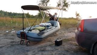 колеса для лодки пвх с навесным транцем(Вариант колес для лодки пвх с навесным транцем изготовленных из старой тележки. Полезное приспособление..., 2014-08-17T00:40:23.000Z)