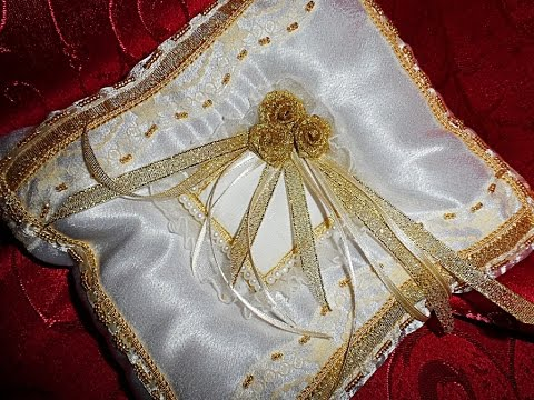 Свадебные подушки для колец